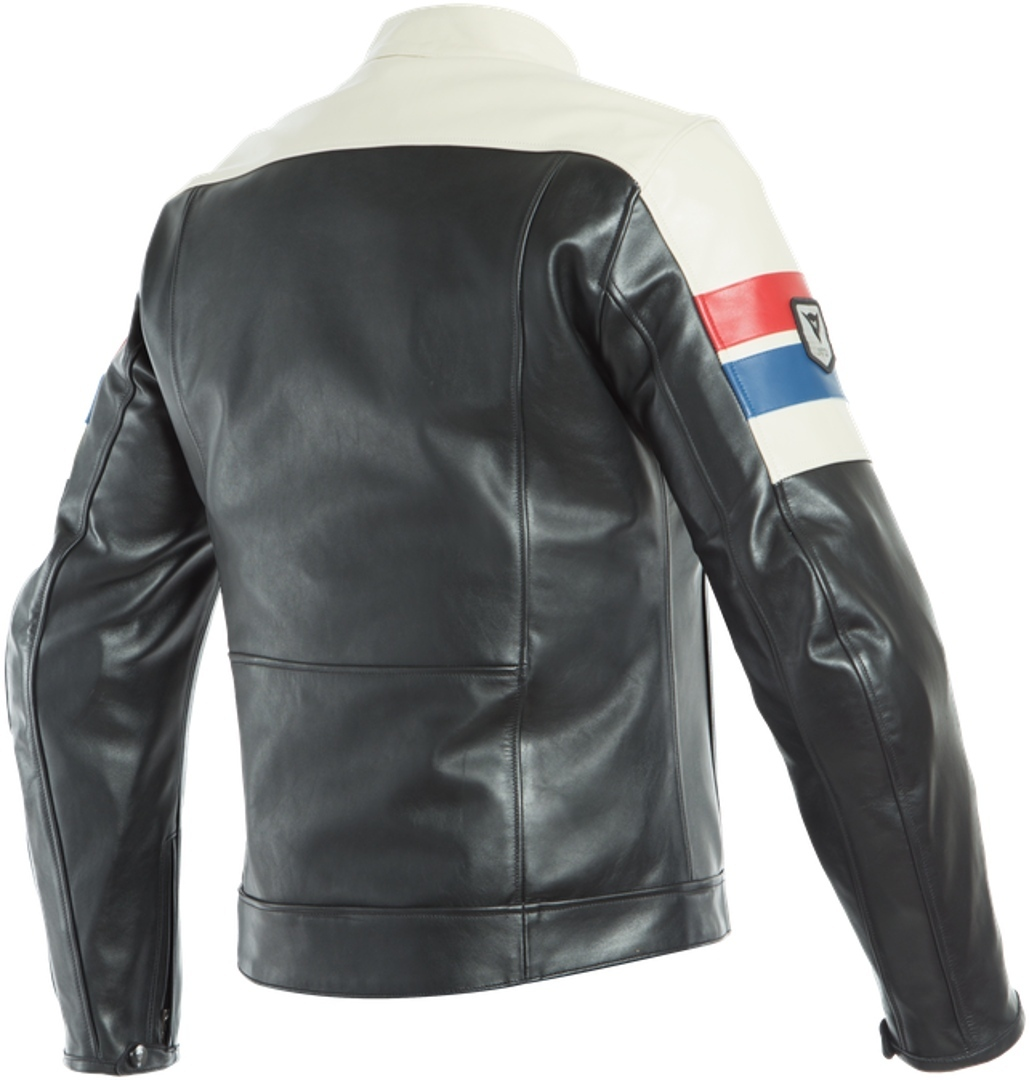 Dainese-8-Track-retro-cafe-racer-style-leather-motorcycle-jacket miniatuur 2